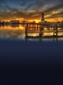 Sunset photo taken of Gulfport Harbor