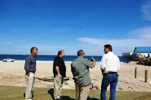 Seaside Heights, N.J., Mayor Bill Akers, middle right, gives the South Mississippi leadership delegation a tour of the Jersey Shore before the Bayshore Conference of Mayors on May 17. The group included former U.S. Rep Gene Taylor, far left, former Bay St. Louis Mayor Eddie Favre, middle left, and former Gulfport Mayor Brent Warr.